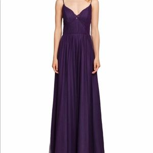Hayley Paige Occasions Plum Tulle Prom Gown